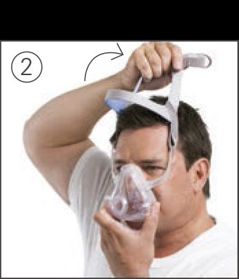 Como ajustar a máscara facial AirFit F10 ResMed
