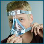 Como ajustar a máscara facial Amara Gel Philips Respironics passo 3