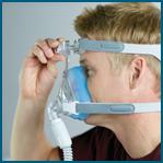 Como ajustar a máscara facial Amara Gel Philips Respironics passo 4