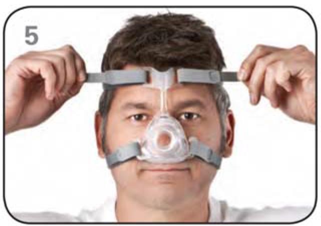 Ajustar máscara nasal Mirage FX Resmed Passo 5