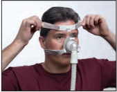 Ajustar máscara nasal TrueBlue Passo 3