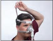 Ajustar máscara nasal TrueBlue Passo 4