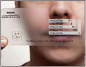 Ajustar máscara nasal TrueBlue Passo 1